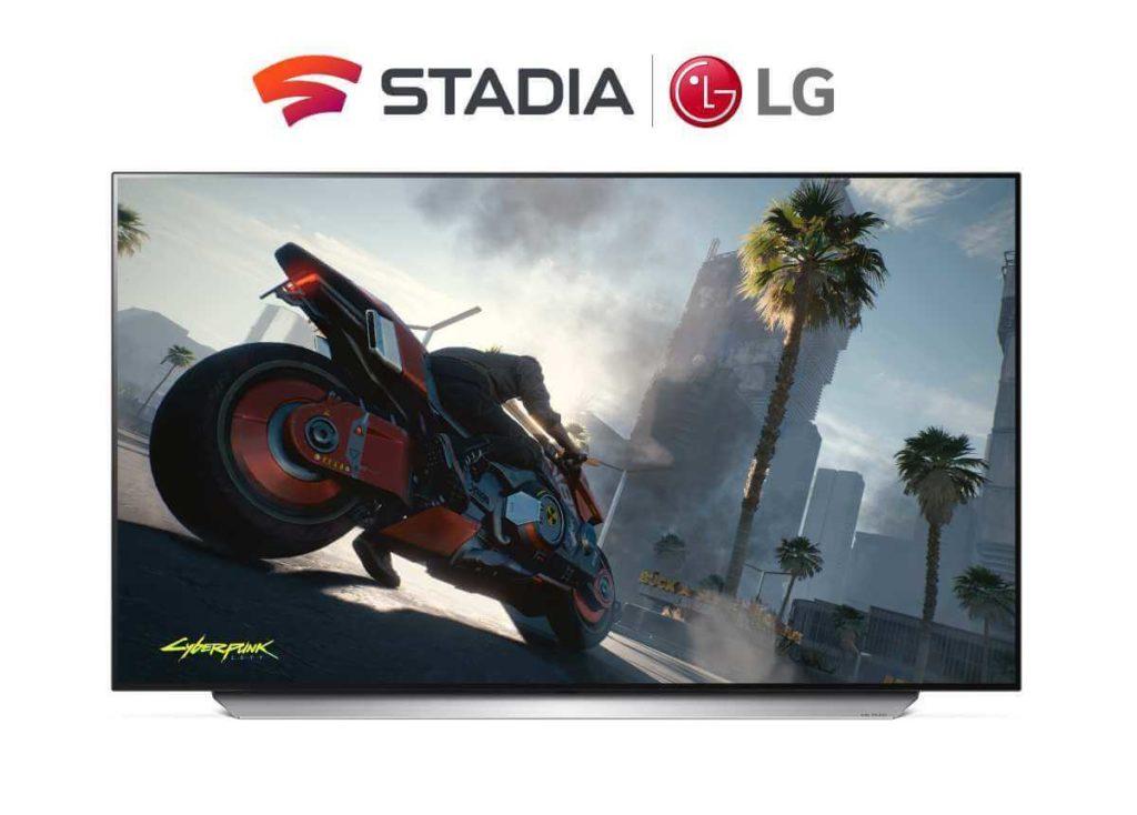 Google Stadia LG smart TVs