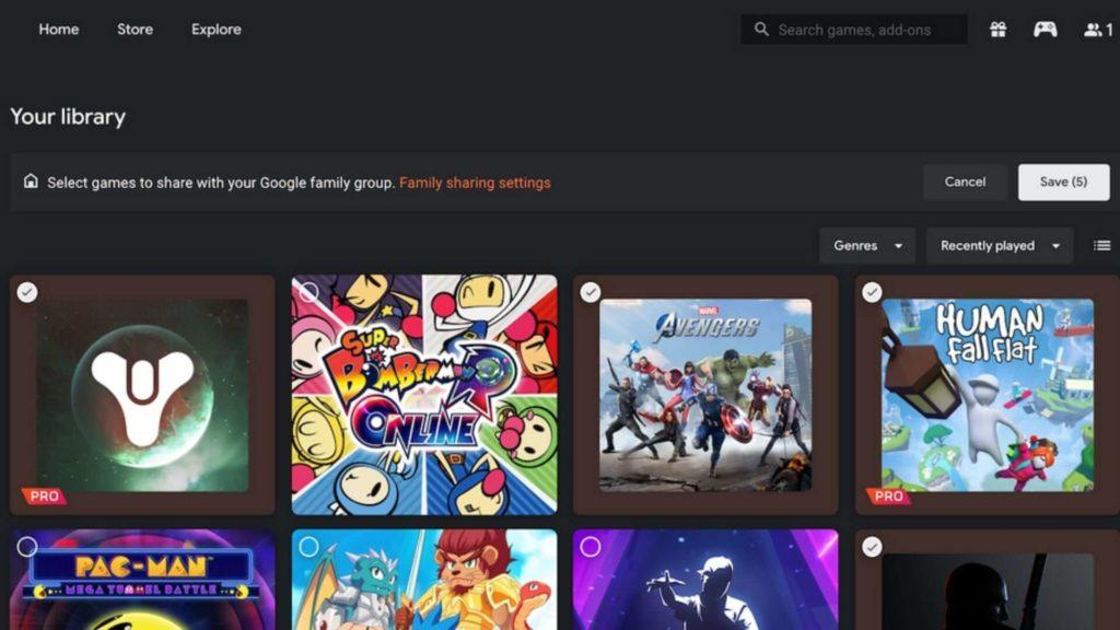 Google Stadia Screenshot Search