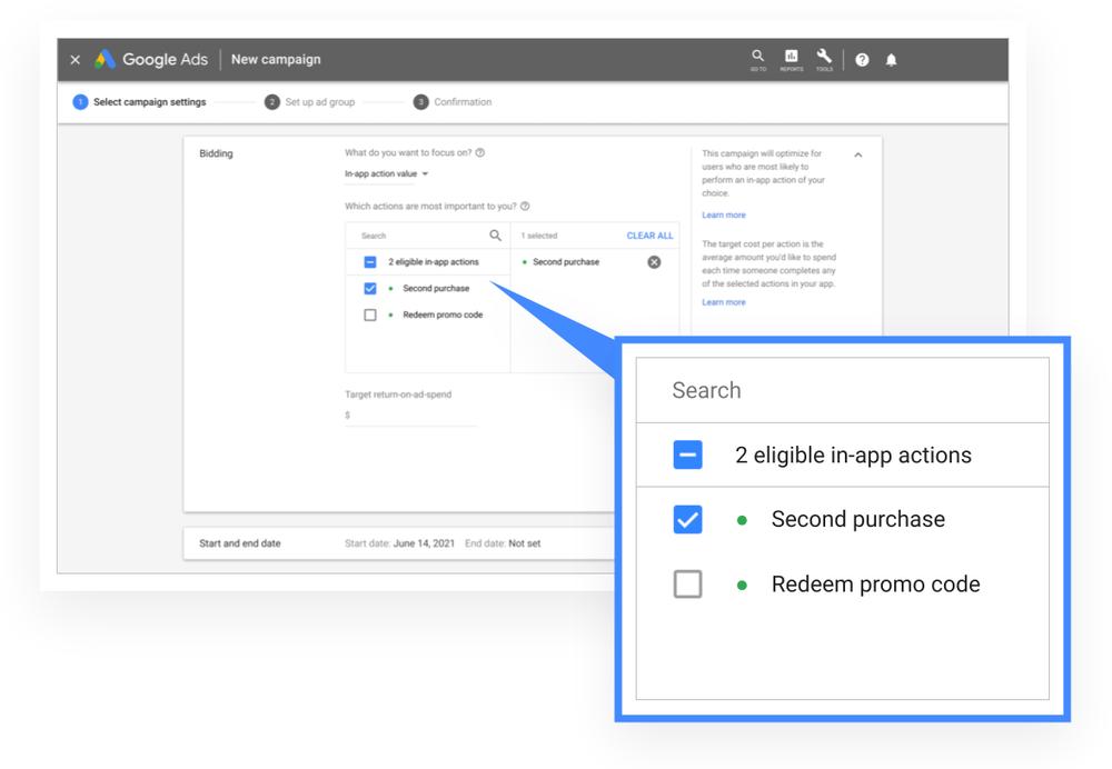 Google Stadia tROAS for ACE